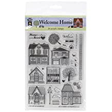 """Hot Off The Press Welcome Home Acrylic Stamp Sheet, 6"""" by 8"""""""