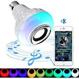 LEDMOMO Music Bulb LED Smart RGB Color Changing Light Bulbs Bluetooth Speaker E27 Bulb for Home,Stage,Dating,Business Gift,Party Decoration