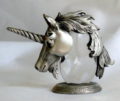 - Swarovski Crystal and Pewter Unicorn Head