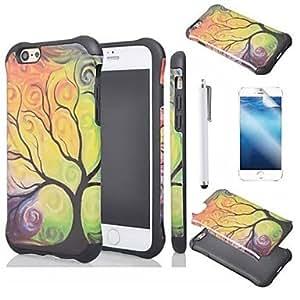 YULIN flor peonía cáscara protectora caso para el iphone 6
