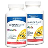 PROGRESSIVE Sunshine Burst Vitamin D for Kids (120 S-Gels) 2-Pack