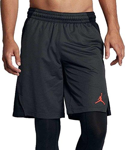 Nike Mens Jordan Flight Basketball Shorts Anthracite/Black/Gamma Orange (XX-Large)