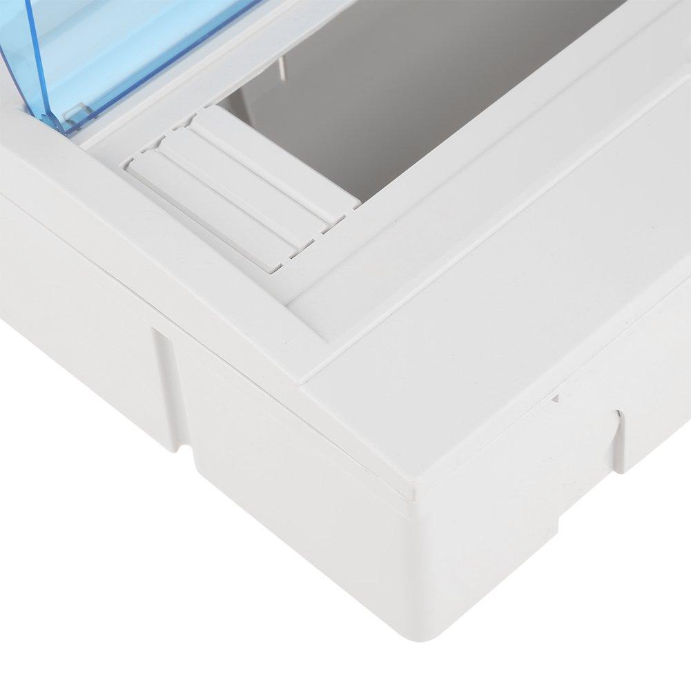 Caja de Protecci/ón de Distribuci/ón de Pl/ástico para Disyuntor de 9 a 12 V/ías Interior en la Pared Caja de Distribuci/ón El/éctrica