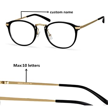 11d6b5c4d8e Personalized Custom Made Blue Light Blocking Computer Reading Glasses with  Transparent Lens(Gift for Women