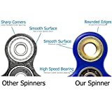 Tri Fidget Hand Spinner/Ultra Fast Bearings/Toy Great Gift- Perfect For Relieving Stress, Anxiety and Killing Time. (Blue)