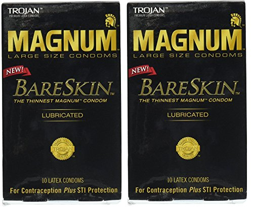 Trojan Magnum Bareskin Lubricated Condoms QQqtkx, 20 Count by Trojan
