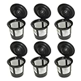 Goldenvalueable 6 x Single Coffee Pod Filters Compatible Keurig K Cup Coffee Maker System, Reusable