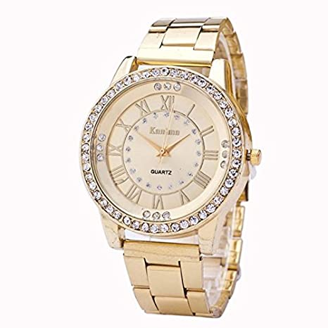 Relojes Hombre Deportivos 💝💞 Yesmile Relojes de Cristal para Hombre Rhinestone de Acero Inoxidable Reloj analógico de Cuarzo: Amazon.es: Hogar