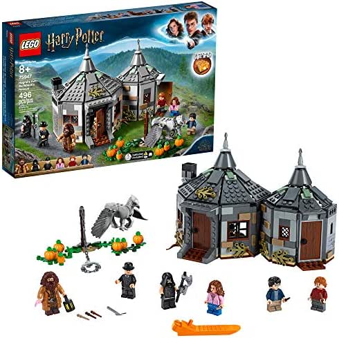 LEGO Harry Potter and The Prisoner of Azkaban Hagrid's Hut: Buckbeak's Rescue 75947 Building kit, New 2019 (496 Pieces)