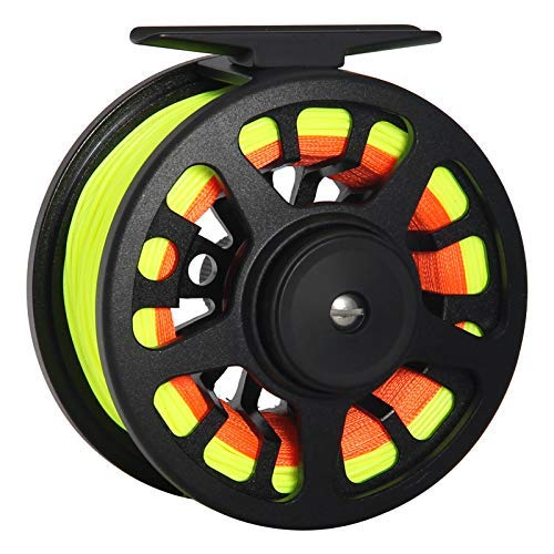 ANGLER DREAM BLC 3/4 5/6 7/8WT CNC Machined Fly Fishing Reel Mid-Arbor Aluminum Fly Reel with Line Combo WF 3 5 8WT Fly Fishing Line Kit