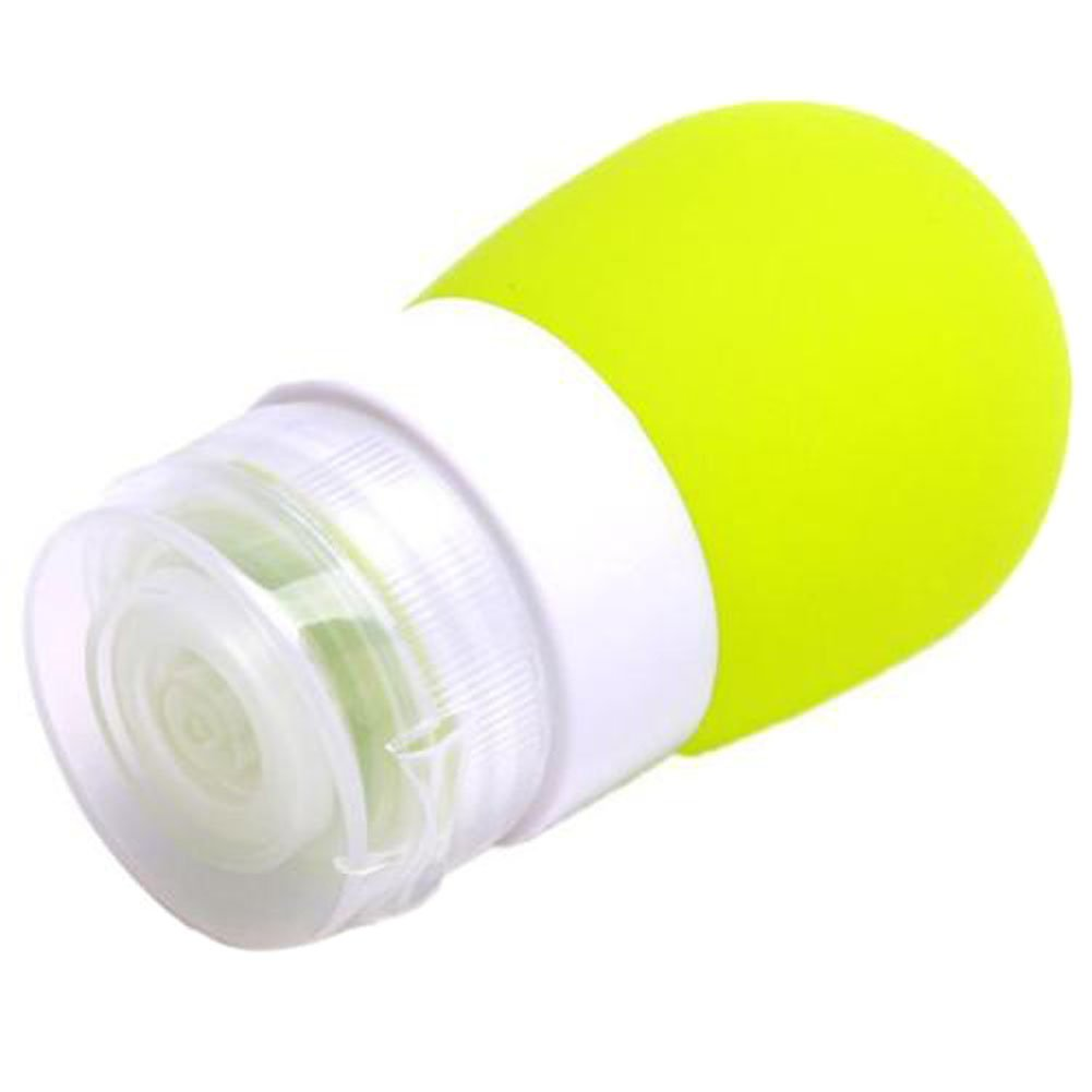 Yingwei Portable Travel Silicone Bottles Shower Gel Shampoo Squeeze Sub-bottling Tube (Green, small )
