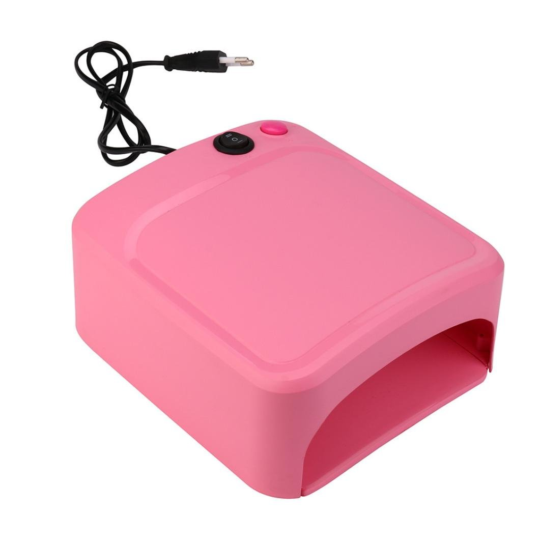 Coromose 36W UV Lamp Light Nail Dryer Manicure Gel With Timer 2018 New (Pink)