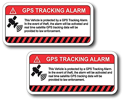 amazon com 2 pack this vehicle protected by gps tracking warning