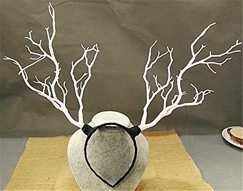 Christmas Fairy & Witch Tree Branches Antlers Headband Cosplay Party Butterfly Flower Headpiece Decoration Steampunk Vintage (1) -