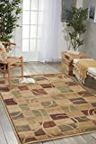 Nourison Expressions (XP01) Beige Rectangle Area Rug, 5-Feet 3-Inches by 7-Feet 5-Inches (5'3' x 7'5')