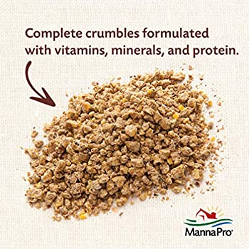 Manna Pro Medicated Chick Starter Crumble Feed For Healthy Growth, 5 lb 1