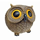Design Toscano Puffy, the Roly-Poly Garden Owl Statue For Sale