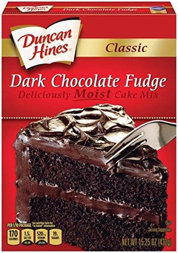 Mix Chocolate Duncan Cake Hines - Duncan Hines Classic Cake Mix, Dark Chocolate Fudge, 15.25 Ounce