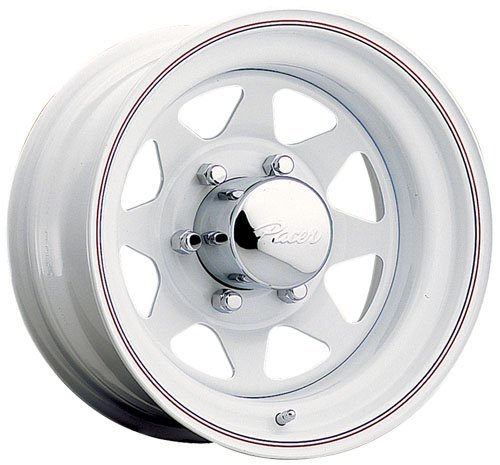 "Pacer 310W WHITE SPOKE White Wheel (15x6""/5x5.5"", 0mm, used for sale  Delivered anywhere in USA"