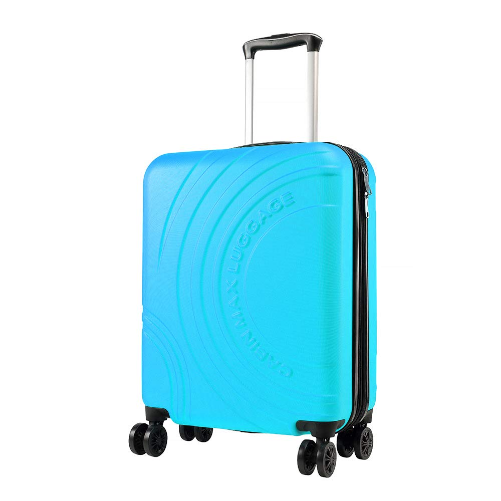 Cabin Max Velocity - Maleta para Equipaje de Cabina Ligera   Trolley de ABS con Ruedas de 55 x 40 x 20 cm Extensible a 55 x 40 x 25 cm Aprobado para Vuelo en Ryanair, EasyJet, BA (Azul Biscay)