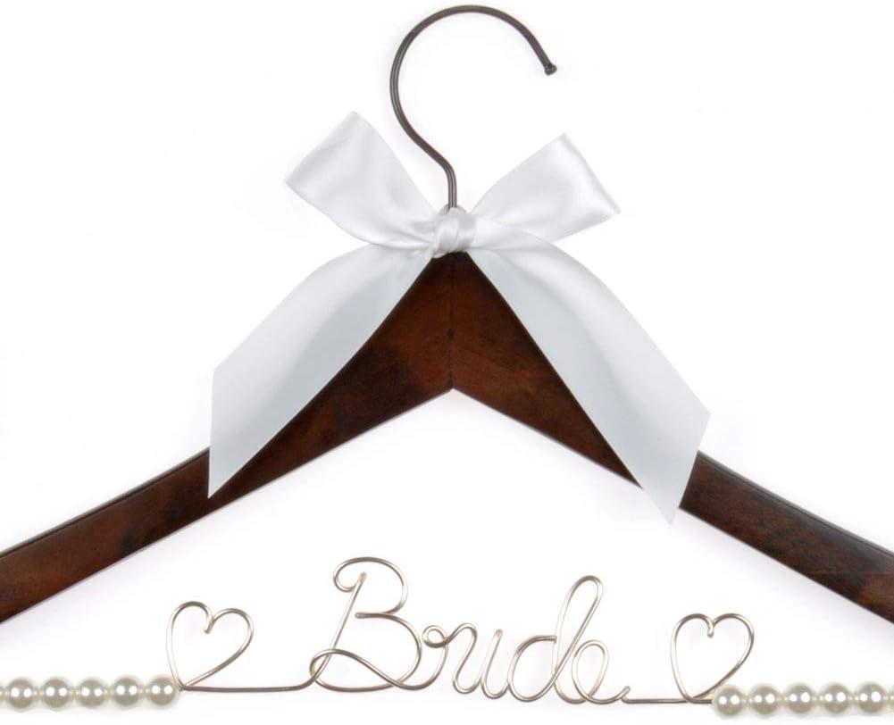 Free Ship Bridesmaid Hanger  Wedding Hanger  Personalized Bridal Hanger  Wire Name hanger  Wire Hanger  Name Hanger Bridesmaid gift