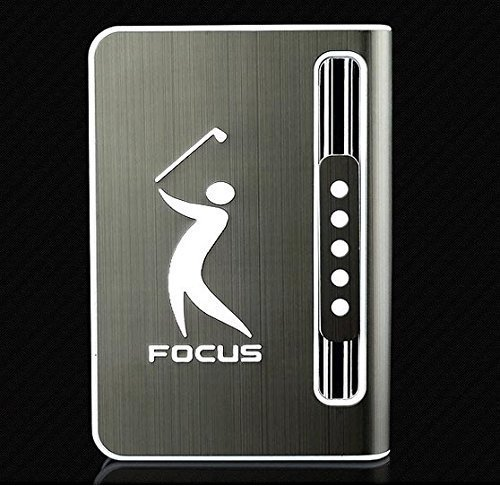 (Stylish 10 pack Automatic Loading Cigarette Case Dispenser With Built in Torch Lighter (BLACK COLOR)- (GD-1329 , FREE CAR sticky pad for Phone PDA MP3 MP4))