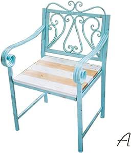 XLOO juego de 3 piezas de muebles de jardín de hierro para exteriores, juego de muebles de jardín moderno de madera maciza, sillas de conversación con mesa de café, banco de jardín