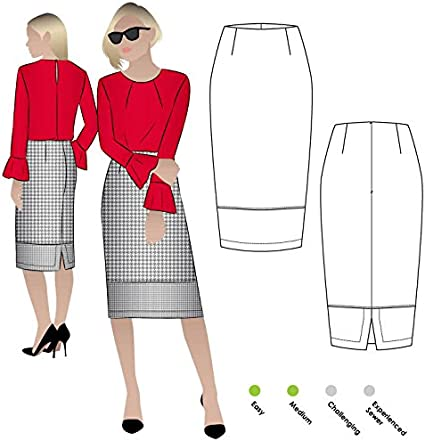 Sizes 04-16 Agatha Woven Skirt Style Arc Sewing Pattern - Click for Other Sizes Available