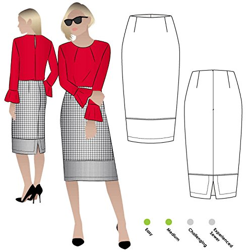 Style Arc Sewing Pattern - Agatha Woven Skirt (Sizes 18-30) - Click for Other Sizes Available