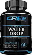 CREE Nutrition Water Drop Advanced Water Weight Loss Support - Maximum Strength Herbal Diuretic Blend - 60 Capsules - Made in the USA