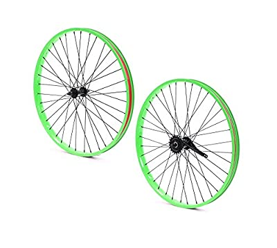Set of Bicycle Rims (26x32mm; Front & Rear; Green)