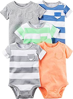 Carter's Baby Boys Multi-Pk Bodysuits 126g626, Blank, 3 Months Baby