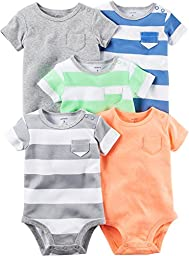 Carter\'s Baby Boys Multi-Pk Bodysuits 126g626, Blank, 3 Months Baby