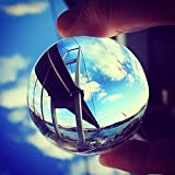 Chunkai 80mm(3 inch) K9 Quartz Crystal Ball Prop for Meditation/Yoga/Photography/Feng Shui/Divination or Wedding/Home/Office Decoration +Free Crystal Stand (80mm)