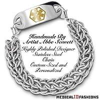 Medical ID Bracelet Set Anelli di Acciaio 1743