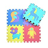 10Pcs Educational Baby Play Mat, Stitching Foam Pad, Non-slip Baby Crawling Mat, Children's Playing PlayMat,Interlocking Soft EVA Foam Puzzle Game Pad, Exercise Floor Mats for Gym Fitness Yoga,PlayMat