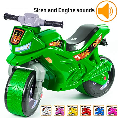 (KIDZEÜG Push Bike Balance Ride-on - for Toddlers and Kids 2-5 Years Old Plastic Bike Outdoor, Indoor Stroller Toy Motorcycle 2 Wheel Walking Activity Trainer Lightweight Washable)