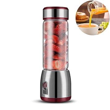 BXZZJLV Exprimidor Portátil, Botella De Cristal Eléctrica del Juicer, Taza De Mezcla Automática del