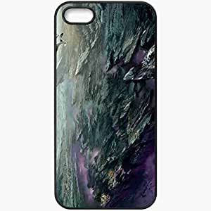 Personalized iPhone 5 5S Cell phone Case/Cover Skin Art Canyon Canyon Rocks Glow Lightning Black