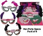Hen Party Masks - pack of 6 eyemasks