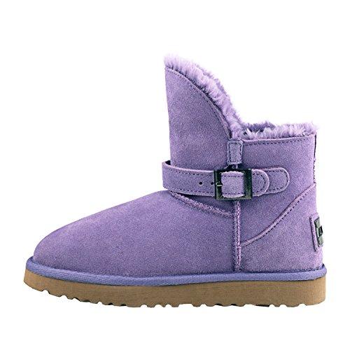Courtes Originaux Doublure Boots Chaude Neige D9527 Femme de Shenduo Bottes qIwRff