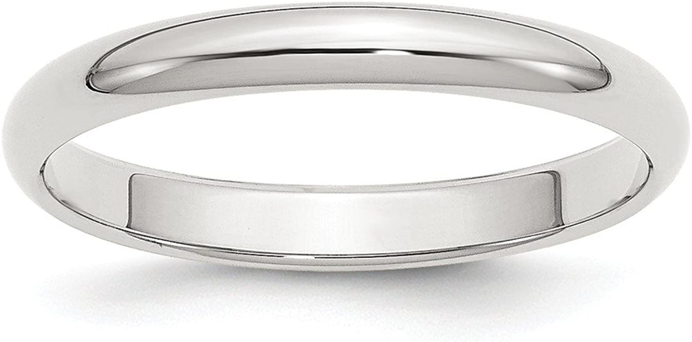 Solid 925 Sterling Silver 3 mm Half Round Wedding Band Stackable Men/'s Ring Sizes 9 to 16
