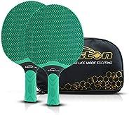 Senston Table Tennis Rackets Set, Professional Table Tennis Bats, Composite Rubber Ping Pong Paddle Set