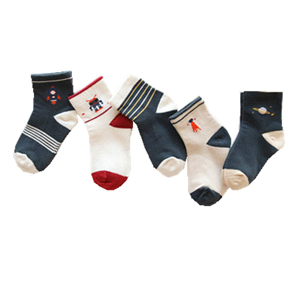 Kids Socks, Morbuy 5Pairs Keep Warm Anti-slip Rich Multicolor Soft Children Socks
