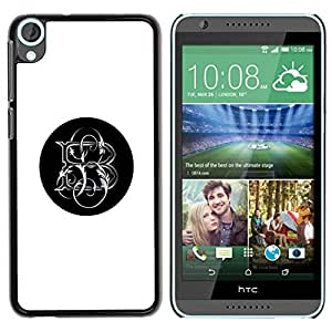 TaiTech / Hard Protective Case Cover - Black Letter Initials - HTC Desire 820 by ruishername