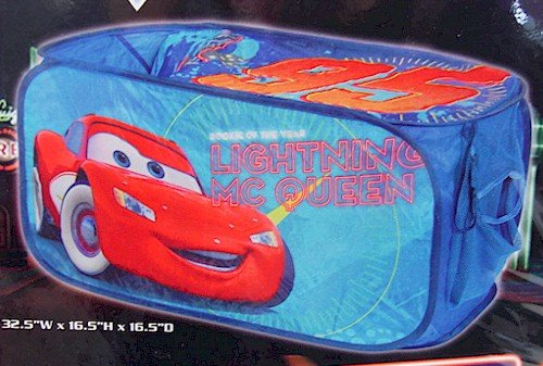Disney Pixar Cars Blue & Red Collapsible Storage Trunk by Idea Nuova by Idea Nuova