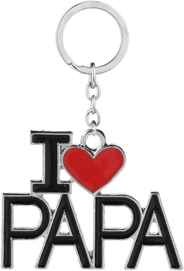 Cadeau Sp/écial de Remise des Dipl/ômes pour Un Anniversaire daffaires Porte-cl/és du P/ère Grav/é I Love Dad//Papa pour Hommes