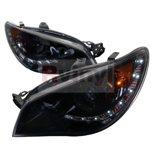 Spec-D Tuning 2LHP-WRX06G-TM Subaru Impreza Wrx Sti Tr Wagon 4Dr Led Projector Headlights Smoked ()