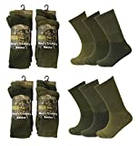Men 6 or 12 Pairs Army Military Patrol Combat Boot High Performance Hiking Padded Thermal Warm Socks