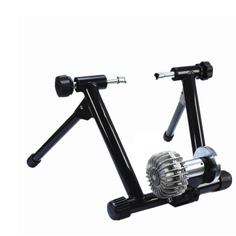 磁気ターボトレーナー - ロードマウンテンバイク用可変抵抗室内バイクトレーナー スポーツ用品 (色 : ブラック) ブラック